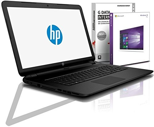 HP (15,6 Zoll) Notebook (AMD A4-9125 Dual Core 2x2.6 GHz, 8GB DDR4 RAM, 512 GB SDD, DVD±R/RW, Radeon R3, HDMI, Webcam, Bluetooth, USB 3.0, WLAN, Windows 10 Prof. 64 Bit, MS Office 2010 Starter) #6115