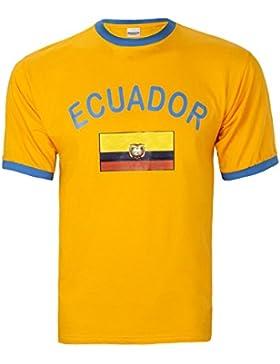 Brubaker Hombre o Mujer Ecuador Fan Camiseta de amarillo, tallas S–XXXL, Unisex, amarillo, small