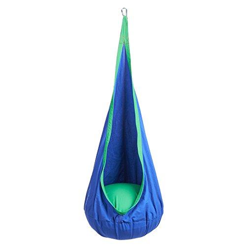 CO-Z Kinder Hängesessel Hängehöhle Hängematte mit Sitzkissen Hängesitz Outdoor und Indoor (blau)