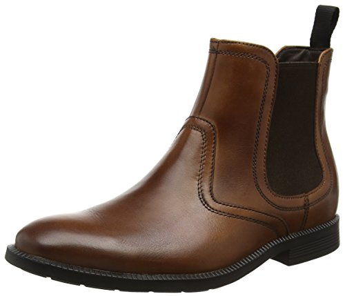 Rockport Dressports Modern, Stivaletti Uomo, Marrone (Brown (New Brown Leather)), 40.5 EU