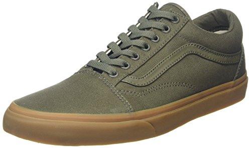 vans-old-skool-zapatillas-unisex-adulto-verde-canvas-gum-46-eu