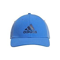 adidas Herren Badge of Sport Heather Baseball Cap, Blau (Azul/Gris Dx0725), One Size (Herstellergröße: OSFM)