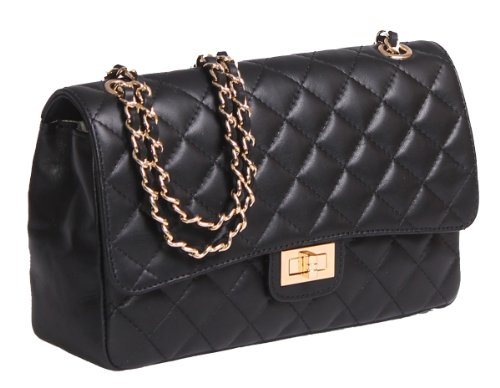 italian-leather-quilted-designer-inspired-handbag-with-gold-trims-black