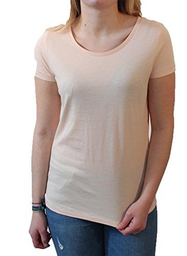 Lara Modal, Damen T-Shirt aus 50% Bio-Baumwolle und 50% Modal mit weitem Ausschnitt Pale Beach