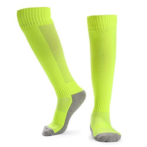 Explopur Kinder atmungsaktive Fußballsocken High Tube Socken Over Knee Sportsocken für 8-14 Jungen Mädchen