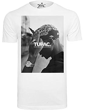 Mister Tee Herren T Shirt Kurzarm 2Pac F*ck The World
