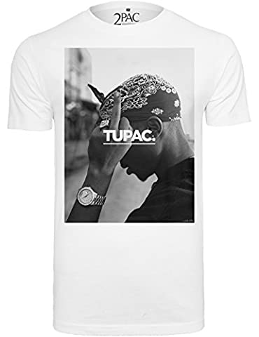 Mister Tee 2Pac F*ck The World T-shirt manches courtes pour homme M Blanc