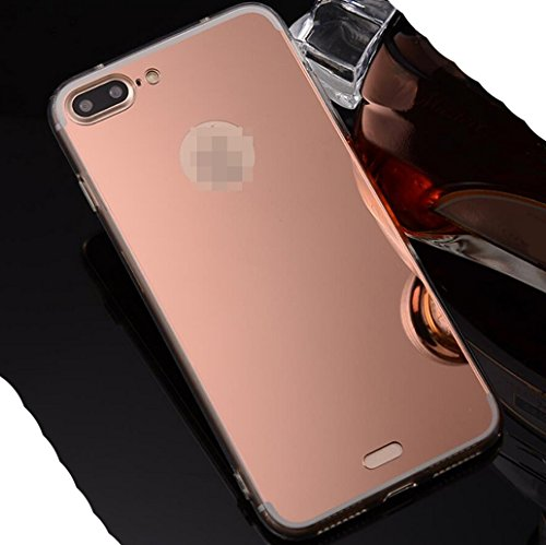 iPhone6S Plus Soft TPU Case, Very Light Slim Elegent Shiny Reflective Mirror Concise Style, WEIFA 2017 Newest Super Cool Personal CellPhone Cover Case For Apple iPhone 6Plus Gold !RoseGold