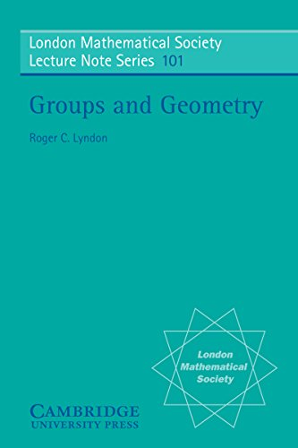 Groups and Geometry (London Mathematical Society Lecture Note Series Book 101) (English Edition)