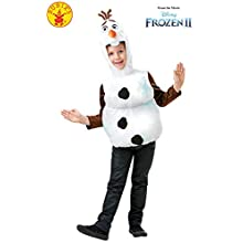 Rubie's Official Disney Frozen 2, Olaf Snowman Tabard, Childs Costume Top, Size Toddler Age 2-3 Years
