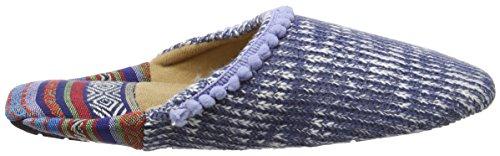 Dearfoams Closed Toe Scuff, Chaussons Mules Femme Bleu (Indigo)