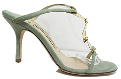 Jimmy Choo - Zuecos para Mujer Verde Pale Green 35.5 3.5 UK