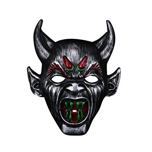 Ball Masquerade Christmas Kostüm - Bascar Halloween Festival Kostüm Horrible Mask Devil Mask Erwachsenen Herren Smiffys Kostüm Masken Maskerade PartyErwachsene Band Gesichtsmaske (A)