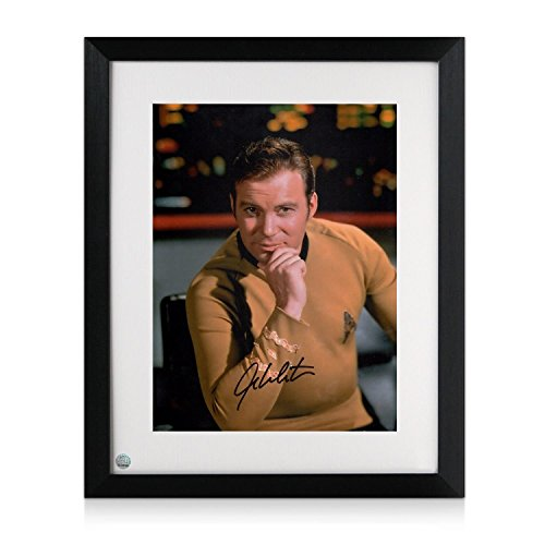 Star Trek Foto, signiert von William Shatner: Captain Kirk Autogramm Sport-memorabilien