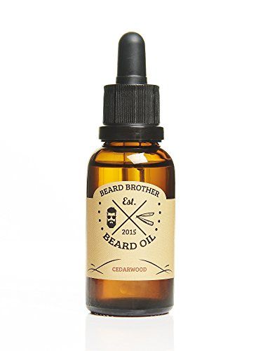 Beard Brother ZEDERNHOLZ Bartöl | pflegendes Bartöl mit Pipette | hochwertiges Bartpflegeprodukt | natürliche Zutaten | handgemachtes Bartöl aus Schweden | Zedernholz Duft | 30ml