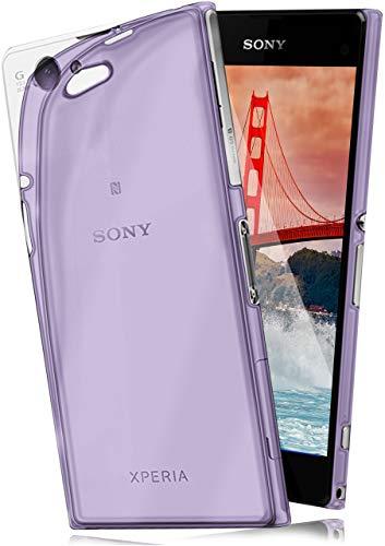 Cover di protezione Sony Xperia Z1 Compact Custodia Case silicone sottile 0,7mm TPU | Accessori Cover cellulare protezione | Custodia cellulare Paraurti Cover Traslucida Trasparente INDIGO-VIOLET
