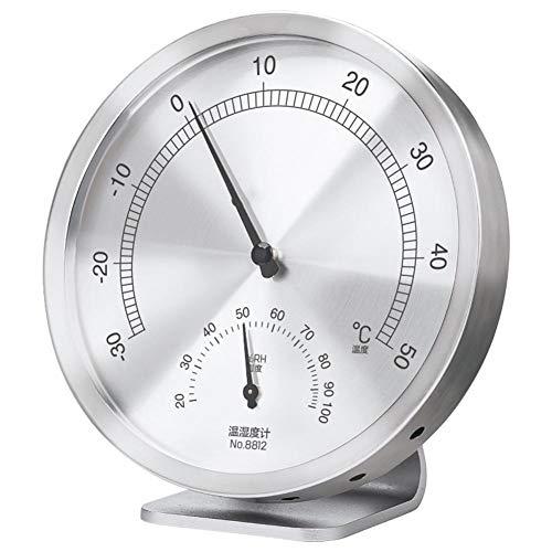 chtigkeitsmesser Indoor Outdoor Hygrometer Thermometer für Home Office Babyzimmer Gewächshaus, Silber ()