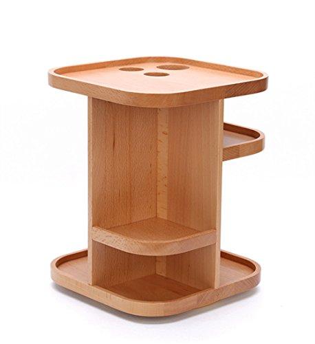 PhantomSky Scatola di immagazzinaggio di legno girevole creativo - collezione Desktop ideale per il vostro (Cancelleria Registrato)