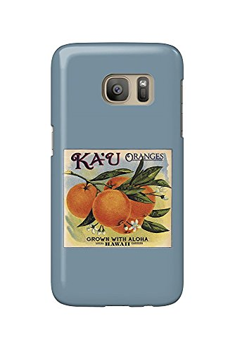 Hawaii - Ka'u Oranges - Citrus Crate Label (Galaxy S7 Cell Phone Case, Slim Barely There) - Orange Crate Label