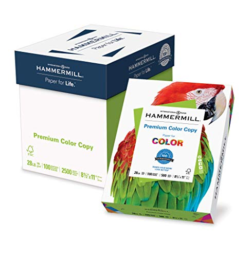 Hammermühle (Technik) Papier, Color Copy Digital, 12,7kg, 8,5x 11, Buchstabe, 100Bright Brief 2,500 Sheets weiß (Hammermill-copy Papier)