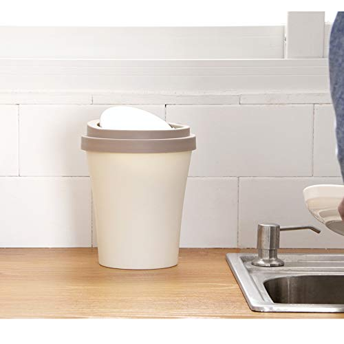 EHNDJK Cup Shape Papierkorb Office Desktop Rolling Cover Tyep Papierkorb Mülleimer Küche Bad Müll Müll - Rolling Unterschrank
