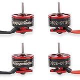 FancyWhoop HAPPYMODEL 4pcs 0802 19000KV Motores Brushless 1-2S SE0802...