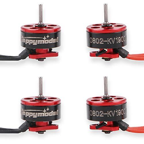 RCruning 4pcs 0802 19000KV Brushless Motoren 1-2S SE0802 Micro Drone Motor für Micro FPV Racing Drone wie Snapper7 Beta65X -