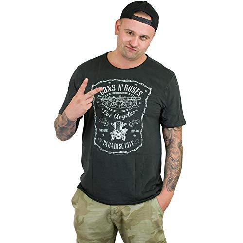 Amplified T-Shirt Guns`n`Roses L.A. Paradise City dunkelgrau XL