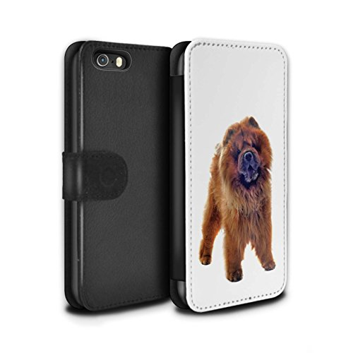 STUFF4 PU-Leder Hülle/Case/Tasche/Cover für Apple iPhone 8 / Bull Terrier Muster / Hund/Hunde Kollektion Chow-Chow
