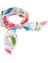 SETRINO® Nickituch Halstuch Bandana Haarband mit Blumen Rockabilly Retro Look für Frauen