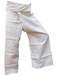 Panasiam® Fischerman Hosen, aus 100% natur Hanf, Unisize passt M bis XL, mit Tasche, Erstauflage, Top Qualität