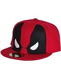 Marvel Comics Deadpool - Gorra para hombre, máscara, gorra de baseball, color rojo
