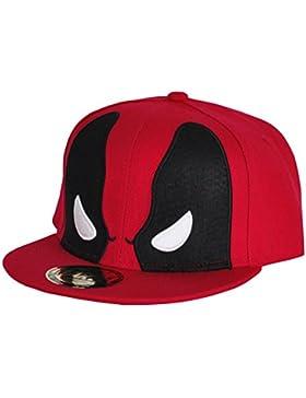 Marvel Comics Deadpool para hombre gorra snapback - máscara para Gorra de béisbol rojo