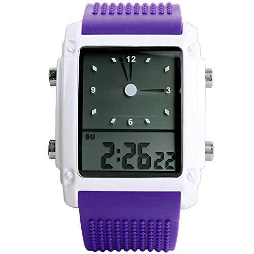 RLUJIUQW Jungen Uhren Mädchen Uhren Kinder Armbanduhr Jungen Digital Analog Wasserdicht Sports Uhren Für Jugendliche Jungen Geschenke Grün, Purple (Grüne Mädchen-uhr)