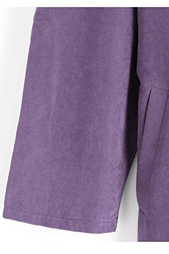 Un Col Surdimensionné Des Revers Menotté Tunique Trenchcoat Extérieur De La Tenue purple