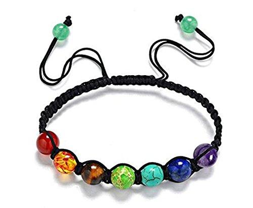 Mit Liebe Perlen Rock (hwiionne Chakra Armband Lava Rock Perlen Chakra Armband für Verstellbare Armbänder mit Schwarzer Energie)