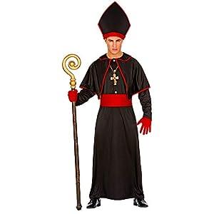WIDMANN 02633 Disfraz de obispo para hombre, negro, L