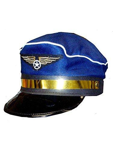 n Airline Kapitän Kappe Piloten Aviator Luftfahrt Schicker Kostüm-hut Neu (Aviator Hüte)