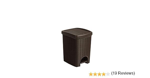 in rattan con inserto estraibile e 20/litri nel angenehmen marrone/ /per il bagno la cucina o l ufficio Kreher Pattumiera a pedale