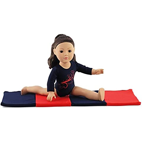18 Inch Doll Clothes/Clothing Leotard with Gymnastics Tumbling Mat l Fits 18 American Girl Dolls by Emily Rose Doll Clothes