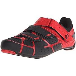 Pearl Izumi Pi Road M Rd IV, Zapatillas de Ciclismo de Carretera para Hombre, Negro (Negro/Rojo), 44 EU