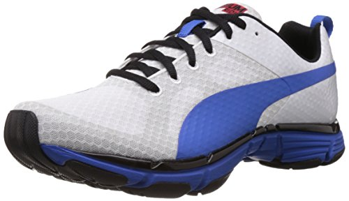 Puma Mobium Ride, Chaussures de running homme Blanc (White/White/Strong Blue)