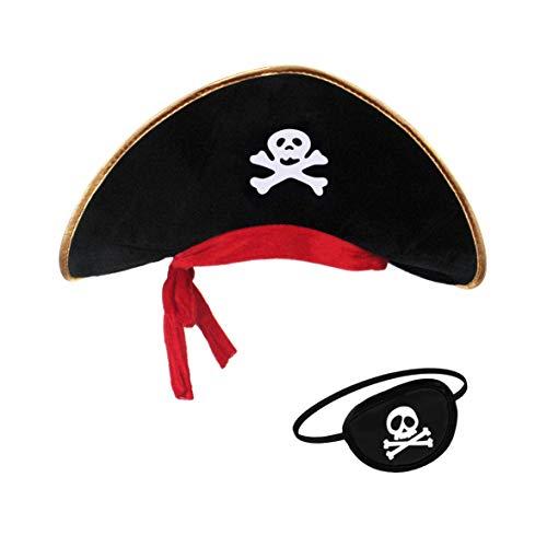 Pirat Hut - papapanda Piratenhut Augenklappe für Kinder und