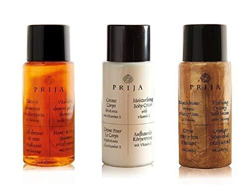 Prija Hotel Articles de toilette Welcome Pack 150 unités shampooing et gel douche, lotion pour le corps et mousse de bain