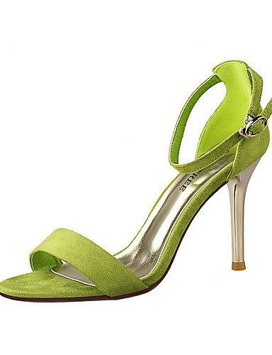 WSS 2016 Chaussures Femme-Décontracté / Soirée & Evénement-Noir / Vert / Rose / Rouge / Argent / Gris / Or-Talon Aiguille-Talons-Talons-Velours silver-us8 / eu39 / uk6 / cn39