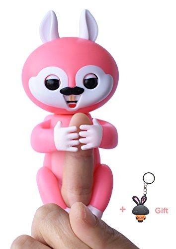 Baby Finger Eichhörnchen Smart Sensor interaktive Kind glücklich Eichhörnchen interaktive elektrische Pet Kleiderbügel Spielzeug (Rosa)