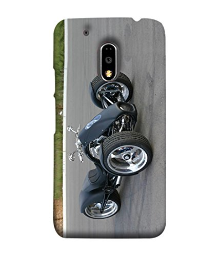 Motorola Moto E3 Power Back Cover, Motorola Moto E3 Power Back Case tricycle Vehicle Roadster Design From Printvisa  available at amazon for Rs.499