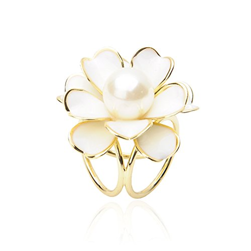 Xiang Shiny Flower Pin Tricyclic Flower Brooch Women Shawl Scarf Wedding Clip