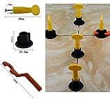 Sistema de nivelación de baldosas de cerámica para pisos (50 piezas, con una moza)