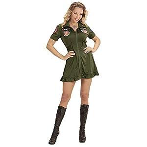 WIDMANN wdm15232?Disfraz de piloto de jet de combate, verde, Medium